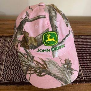 Pink camo John Deere cap